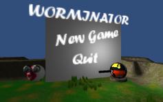 Worminator গেম মেনু